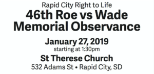 46th Roe vs Wade Memorial Observance